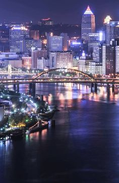 Pittsburgh, PA - a beautiful city! Pittsburgh Skyline, Pittsburgh Pa, Pittsburgh Bridges, Pennsylvania Pittsburgh, Pittsburgh Penguins, The Places Youll Go, Places To See, Best Cities, Beautiful Places