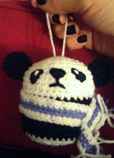 Osito panda con bufanda