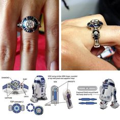 The most amazing wedding ring for the most geek wedding ever :)