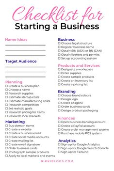 30 Crafts that Make Money + Successful Small Businesses Killing it! Use this checklist for starting a business to create your dream brand from home! Small Business Plan, Small Business Marketing, Starting A Business, Best Small Business Ideas, Creating A Business Plan, How To Start Business, Building A Business Plan, Ideas For Small Business, Diy Business Ideas