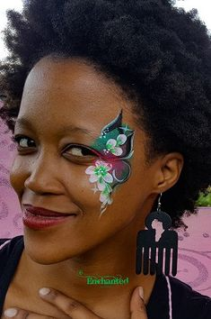 delicate floral face paint design around one eye Face Painting Designs, Paint Designs, Pretty Face, Delicate, Eye, Flower, Amazing, Women, Flowers