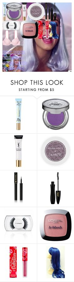 """KATY PERRY ""CALIFORNIA GURLS"" MUSIC VIDEO LOOK"" by oroartye-1 on Polyvore featuring beauty, Too Faced Cosmetics, Urban Decay, Yves Saint Laurent, Lancôme, MAC Cosmetics, L'Oréal Paris, Lime Crime and Victoria's Secret"