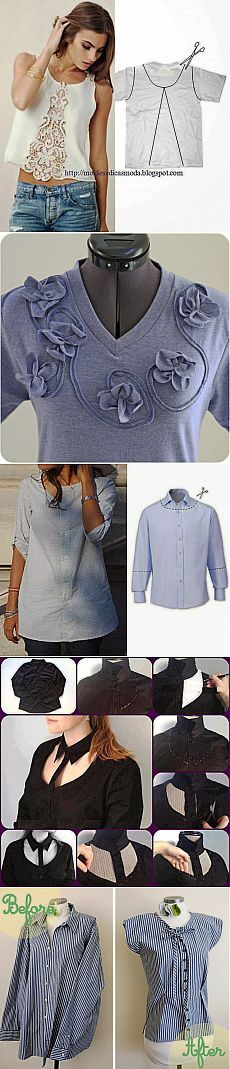 Alteration of old T-shirts and shirts   Skilful hands