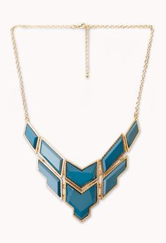 $8.80 Angular Faux Stone Necklace   FOREVER21 - 1000070582