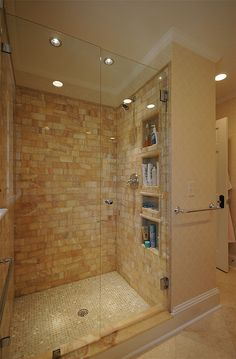 Custom Tiled Shower by hawthornincatlanta House Bathroom, Bathroom Inspiration, House Design, Master Shower, Home Remodeling, Dream Bathrooms, Bathroom Design, New Bathroom Ideas, Custom Tile Shower