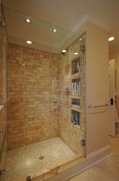 Custom Tiled Shower by hawthornincatlanta, via Flickr