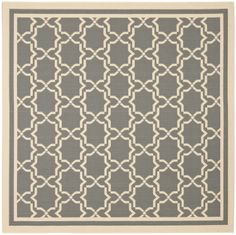 $110 Amazon.com - Safavieh CY6916-246-7SQ Courtyard Collection Grey and Beige Indoor/Outdoor Square Area Rug, 6-Feet 7-Inch Square -