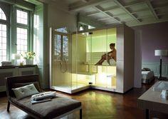 Sauna with Shower Inipi by DURAVIT Italia   Design Eoos