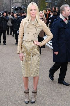 [BURBERRY SHOW - Kate Bosworth in Burberry] LFW