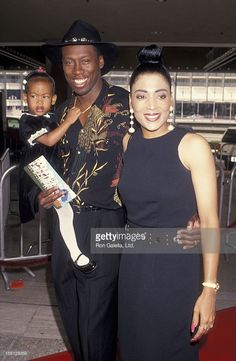 Athletes Al Joyner, Florence Griffith-Joyner and daughter Mary Joyner attends the premiere of 'Rookie of the Year' on June 26, 1993 at the Cineplex Odeon Cinema in Century City, California.