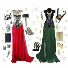 Asgardian dresses
