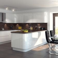 Compare of white gloss kitchen prices & get the best deal! Galley Kitchen Design, Luxury Kitchen Design, Best Kitchen Designs, Luxury Kitchens, Cool Kitchens, Kitchen Modern, One Wall Kitchen, Open Plan Kitchen Living Room, Kitchen Sink