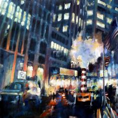 A night scene in the financial district of NYC. Construction steam brilliantly backlit by the lights of Manhattan. I used to pass this scene each night walking to the subway... always knowing I had to paint it. IT was ephemeral... there is no longer construction on Broad St at this spot so I am grateful to have seen it.  #art #artwork #artsy #arty #painting #oilpainting #makingart #paintingart #artlife #artnerd #paintingfun #artfun #artlife #paintinglife #portfolio #paint #lifeisgood…