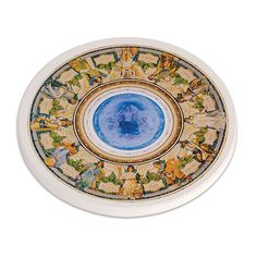 """This exclusive coaster echoes the muraled ceiling of the Main reading room. Made in USA. Stone, 4"""" dia. Ours exclusively."""