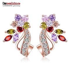 Hot Flower Stud Earrings
