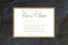 Timeless and elegant, these classic wedding invitations are sure to be a hit…