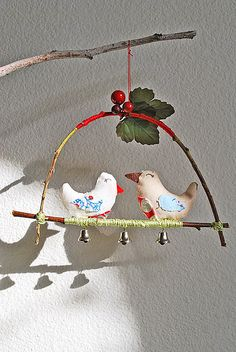 Woodland Love Birds. would be adorable in kid's room!