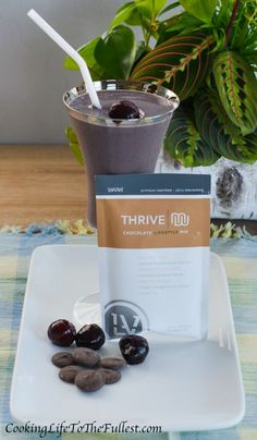 Chocolate Covered Cherry Shake. Thrive by Le-Vel
