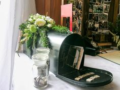 Beautiful details were a feature of this wedding with theming by Magdalene Hill Florist - Vintage letterbox for gift cards on gift table - Carrie and Innes, married 17 October on a gorgeous Spring day - Mission Estate, HAWKES Bay.