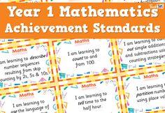 Maths Achievement Standards - Yr1