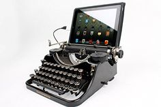 Cool Gadgets for Geeks and Travelers Part II. Typewriter Keyboard for Smartphones, Tablets, or Desktop Computers, or a micro-SD card. works with paper, too: it's a refurbished typewriter from the 1930s