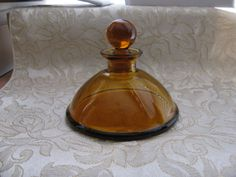 Vintage Amber Glass Vanity Bottle by ToadSuckTreasures on Etsy, $25.00