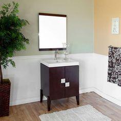 Bellaterra Home 804366 Single Sink Vanity, Wood, Walnut Discount Bathroom Vanities, Small Bathroom Vanities, White Vanity Bathroom, Cheap Bathrooms, Large Bathrooms, Bath Vanities, Modern Bathroom, Narrow Bathroom, Bathroom Ideas