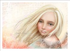 5x7 Fine Art Print  Avalon  Little Angel Girl with by solocosmo, $10.00