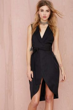 Nasty Gal Boss Around Tuxedo Dress | Shop Dresses at Nasty Gal