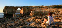 Atardecer en la Ventana Azul de la isla de Gozo. (archipiélago de Malta)