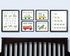 Transportation Nursery Art Prints. Vehicle Decor. by justbunch