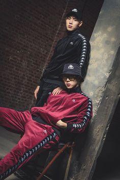 """(ENDORSEMENT) MONSTA X Shownu and Jooheon for Kappa """