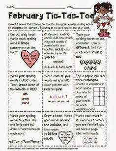Fourth Grade Lemonade Word Study  Spelling Tic Tac Toe  Freebie