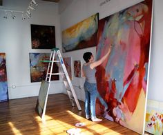 Studio de arte y pintura.