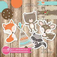 - My best animal list Wild One Birthday Party, Bunny Birthday, First Birthday Parties, First Birthdays, Baby Boys, Baby Shawer, Fox Themed Nursery, Nursery Themes, Woodland Baby