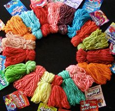 Dye wool yarn with K