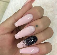 Pink and black sparkle