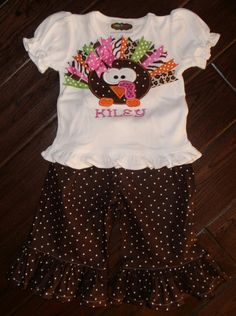 dfd460c689119 N/A Girls Ruffle Pants, Kids Boutique, Boutique Clothing, Cute Embroidery,
