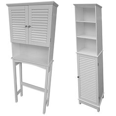 Keep your bathroom neat and organized with an attractive Summit Bath Furniture. These easy-to-assemble cabinets feature adjustable shelves, louvered doors for storing private items, and satin nickel finish hardware. Classic Bathroom Furniture, Simple Furniture, Inexpensive Furniture, Cheap Furniture, Online Furniture, Toilet Storage, Bathroom Storage, Tall Cabinet Storage, Locker Storage