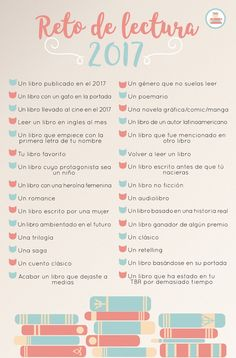 Retos o Propósitos de lectura 2017 Reading Challenge 2017