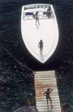 "Slim Aarons ""Speedboat Landing"" sold at Jonathan Adler"