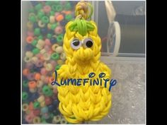 Rainbow Loom JERRY GOURD (Veggie Tales). Designed and loomed by Lumefinity. Click photo for YouTube tutorial. 06/20/14.