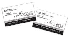 Business Card design for Main Street Productions Business Card Design, Business Cards, Main Street, Books, Livros, Visit Cards, Carte De Visite, Livres, Book