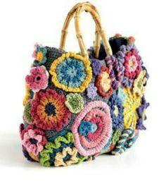 Risultati immagini per crochet freeform bag borsa uncinetto