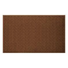 WaterGuard Chevron Indoor Outdoor Mat, Dark Brown