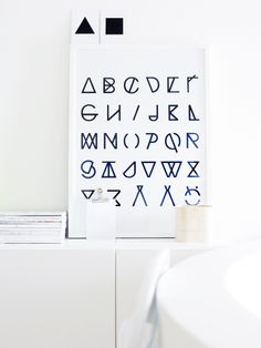 Image of Black and White  Finish Alphabet for Dad