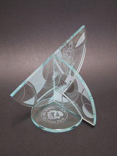 Award Trophy design glass