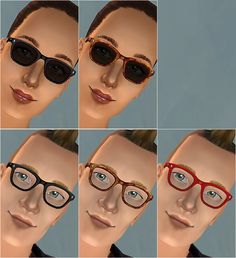 Mod The Sims - Buddy Holly-ish Eyeglasses - New Mesh