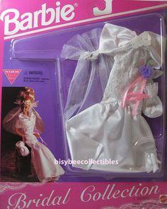 1994 Barbie Fashion Bridal Collection Satin off Shoulder Gown 65292 Mattel for sale online Barbie 1990, Barbie And Ken, Barbie Dolls, Barbie Bridal, Barbie Wedding, Vintage Barbie, Vintage Toys, Satin Underwear, Off Shoulder Gown