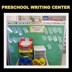 Preschool Writing Center for fine motor development